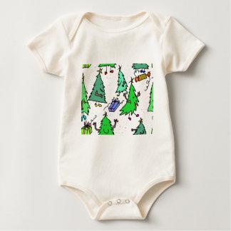 Body Para Bebé Árboles de Navidad que consiguen listos para el
