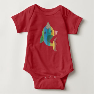 Body Para Bebé Arco iris Narwhal