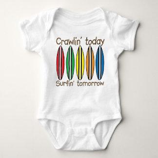 Body Para Bebé Arrastre hoy practicando surf mañana
