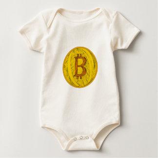 Body Para Bebé Arte del Doodle de Bitcoin