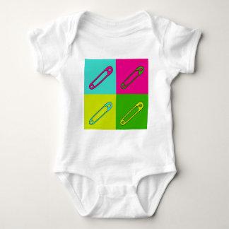 Body Para Bebé Arte moderno brillante de los pernos de seguridad