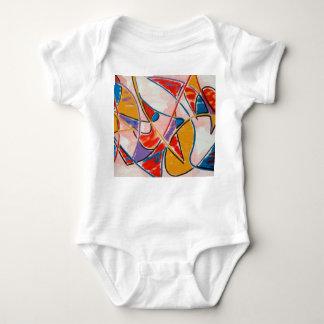 Body Para Bebé Arte Pescado-Abstracto extraño pintado a mano