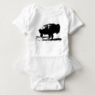 Body Para Bebé Arte pop corriente del bisonte del búfalo