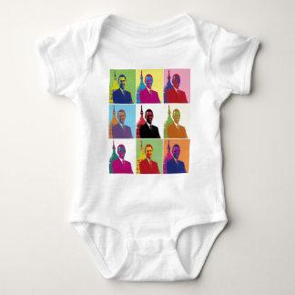 Body Para Bebé Arte pop de presidente Obama