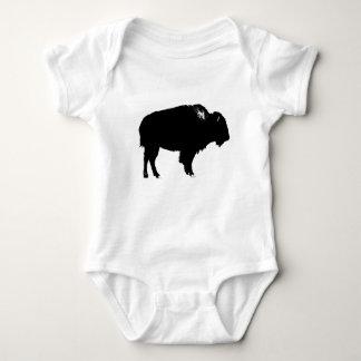 Body Para Bebé Arte pop negro y blanco de la silueta del búfalo