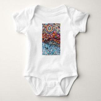 Body Para Bebé Arte vibrante de la pared del mosaico