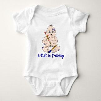 Body Para Bebé Artista en el entrenamiento de Onesy para el bebé