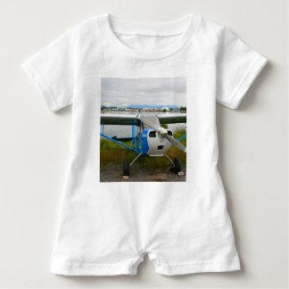 Body Para Bebé Aviones de ala alta, azul y blanco, Alaska