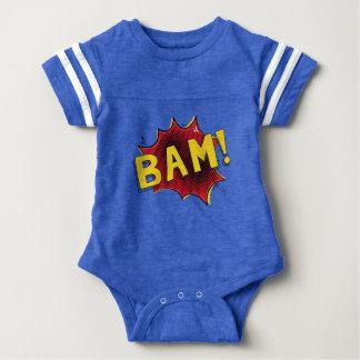 Body Para Bebé Azul cómico del BAM del regalo del bebé del mono