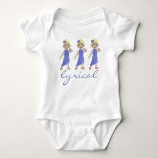 Body Para Bebé Bailarín púrpura del traje del decreto lírico de