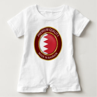 Body Para Bebé Bandera abstracta de Bahrein, colores des Bahrein