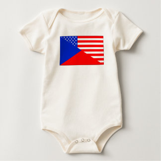 Body Para Bebé Bandera americana checa