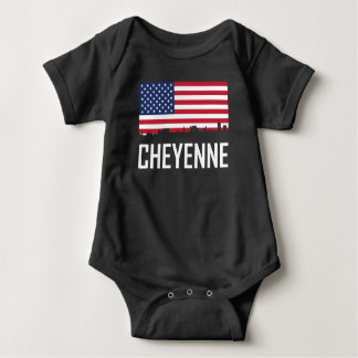 Body Para Bebé Bandera americana del horizonte de Cheyenne