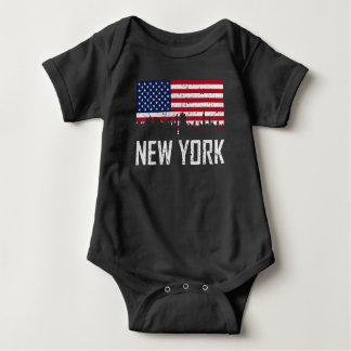 Body Para Bebé Bandera americana del horizonte de New York City
