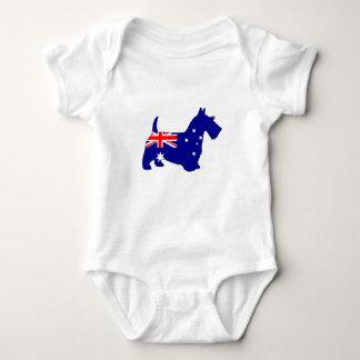 Body Para Bebé Bandera australiana - escocés Terrier
