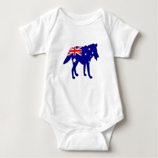 Body Para Bebé Bandera australiana - lobo