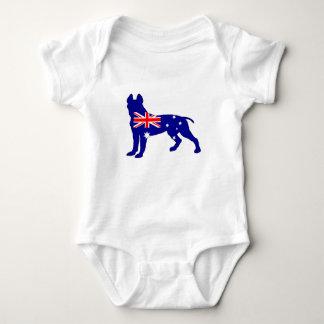 Body Para Bebé Bandera australiana - pitbull Terrier