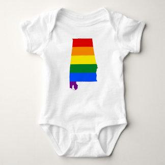 Body Para Bebé Bandera de Alabama LGBT