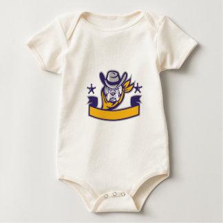 Body Para Bebé Bandera de la cabeza del vaquero del sheriff del