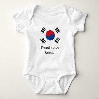 Body Para Bebé Bandera de la Corea del Sur