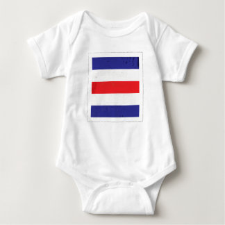 """Body Para Bebé Bandera de señal náutica de la letra """"C"""""""