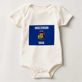 Body Para Bebé Bandera de Wisconsin