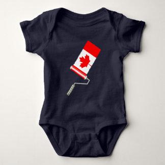 Body Para Bebé Bandera del rodillo de pintura de Canadá