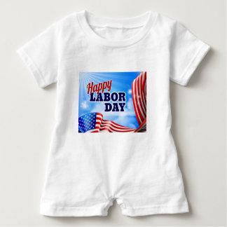 Body Para Bebé Bandera feliz de la bandera americana del Día del