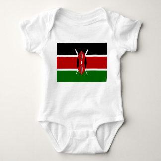 Body Para Bebé Bandera nacional del mundo de Kenia