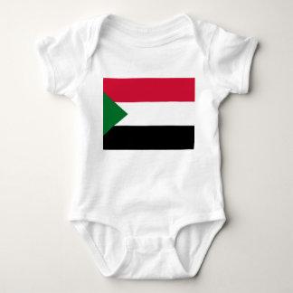 Body Para Bebé Bandera nacional del mundo de Sudán