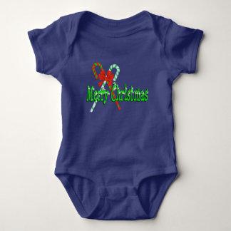 Body Para Bebé Bastones de caramelo de las Felices Navidad