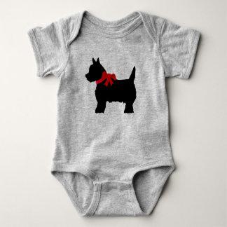 Body Para Bebé Bata linda del bebé del terrier