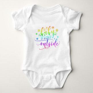 Body Para Bebé Bebé colorido es mono exterior frío del día de