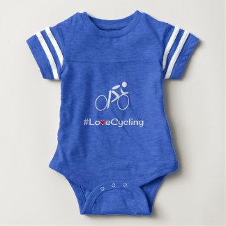 Body Para Bebé Bebé de ciclo del ciclista del lema del amor