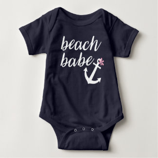 Body Para Bebé Bebé de la playa - el equipo de la niña. Ancla.