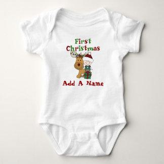 Body Para Bebé Bebé de Santa y primer mono del navidad del reno