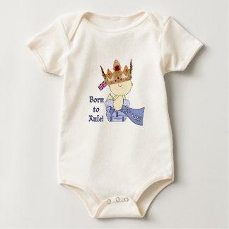 Body Para Bebé ¡Bebé real con la corona/llevado para gobernar!