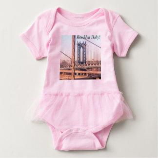 Body Para Bebé ¡Bebé rosado de Brooklyn del mono del tutú del