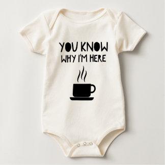Body Para Bebé Beca bebida anónima del AA del café