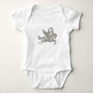Body Para Bebé Bellerophon que monta Pegaso que sostiene el