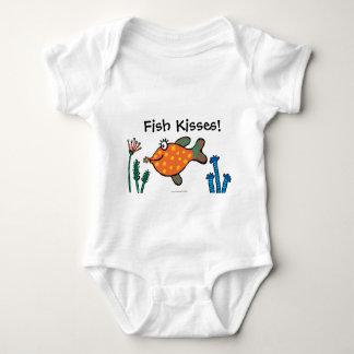 Body Para Bebé Besos de los pescados de la mamá y del bebé