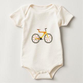 Body Para Bebé Bicicleta del amarillo del diseño de Futurictic.