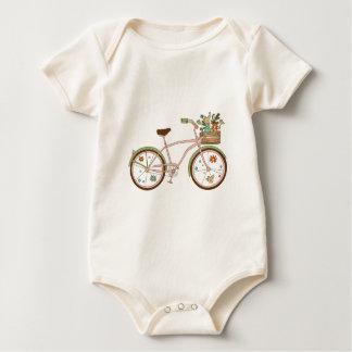 Body Para Bebé Bicicleta retra con karzinkoy para las flores