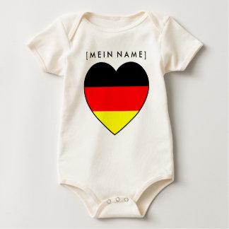 Body Para Bebé Bio Babybody nombre corazón Alemania al MUNDIAL 20