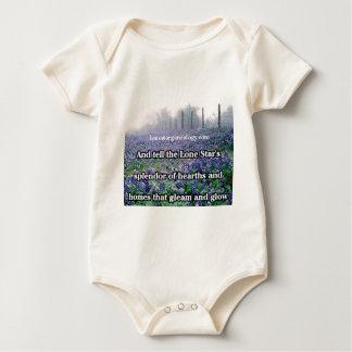 Body Para Bebé Bluebonnet solitario del poema de la genealogía de