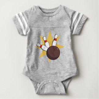 Body Para Bebé Bola de bolos que golpea los pernos