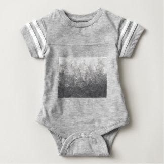 Body Para Bebé Bosquejo del lápiz. Movimientos de la marca de