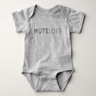 Body Para Bebé Botón enmudecedor del mono del bebé