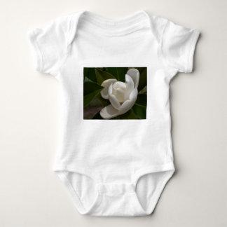 Body Para Bebé brote de flor blanco de la magnolia meridional