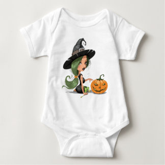Body Para Bebé Bruja de Halloween